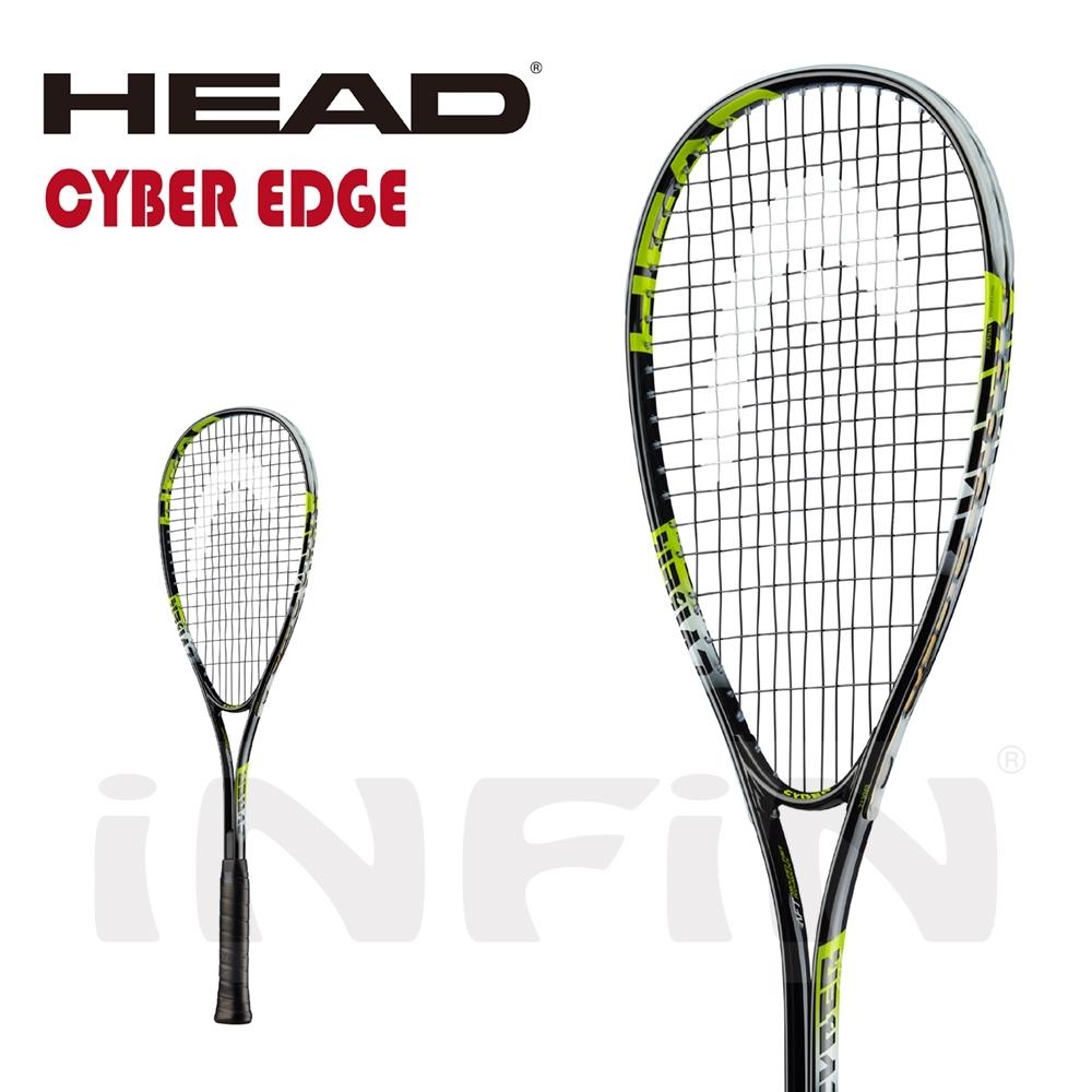 【HEAD】壁球拍 CYBER EDGE 195g 黑/螢光綠 213049