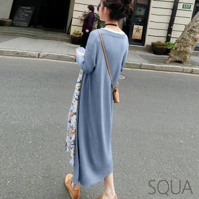 SQUA 素色長版針織罩衫外套-三色-(M/L)