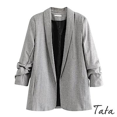 褶皺袖開衫西裝外套 TATA