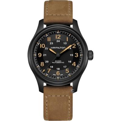 Hamilton 漢米爾頓 卡其野戰系列 TITANIUM機械錶(H70665533)-黑/42mm
