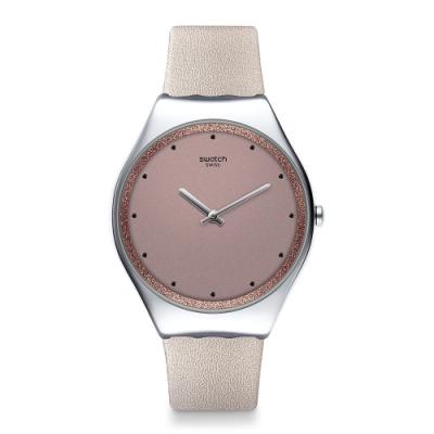 Swatch 超薄金屬手錶 META SKIN 超薄金屬-親膚棕-38mm