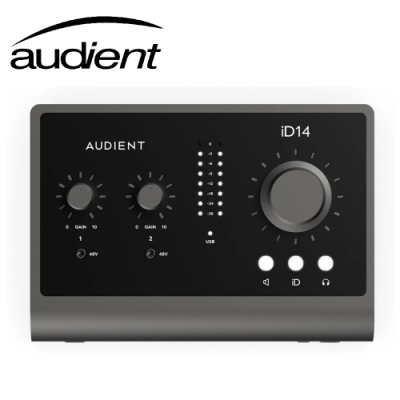 Audient iD14 MKII 10in/6out USB 錄音介面