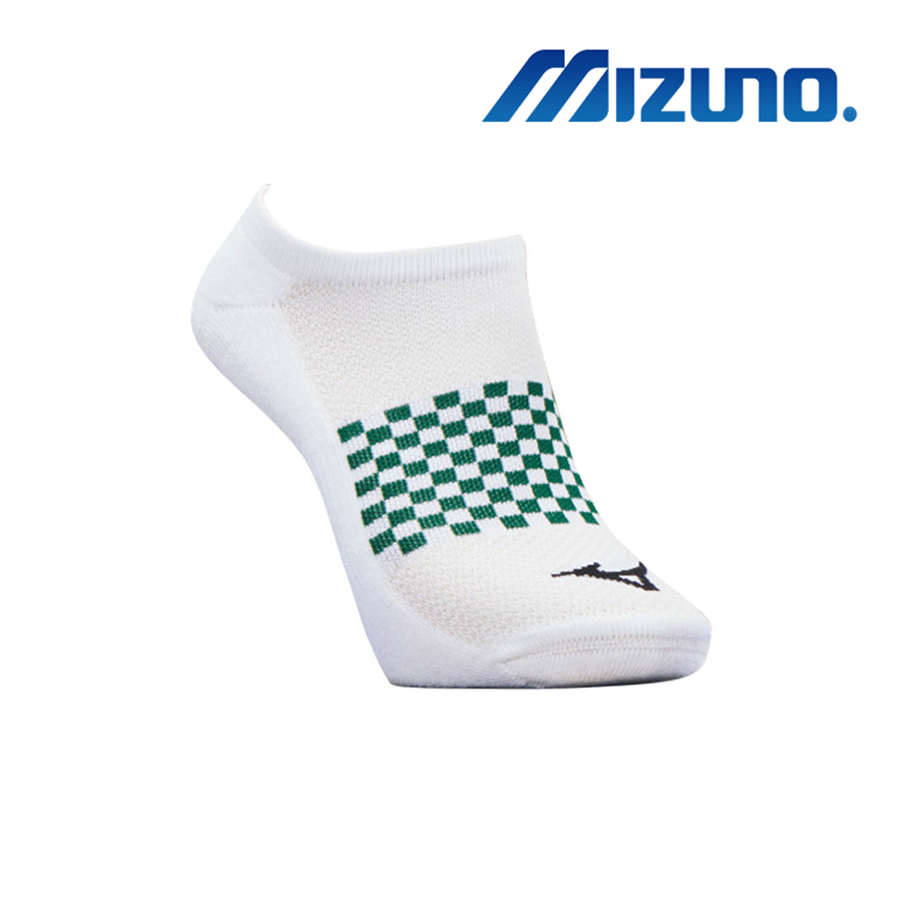 MIZUNO 男運動厚底踝襪 5入 白 32TX920201