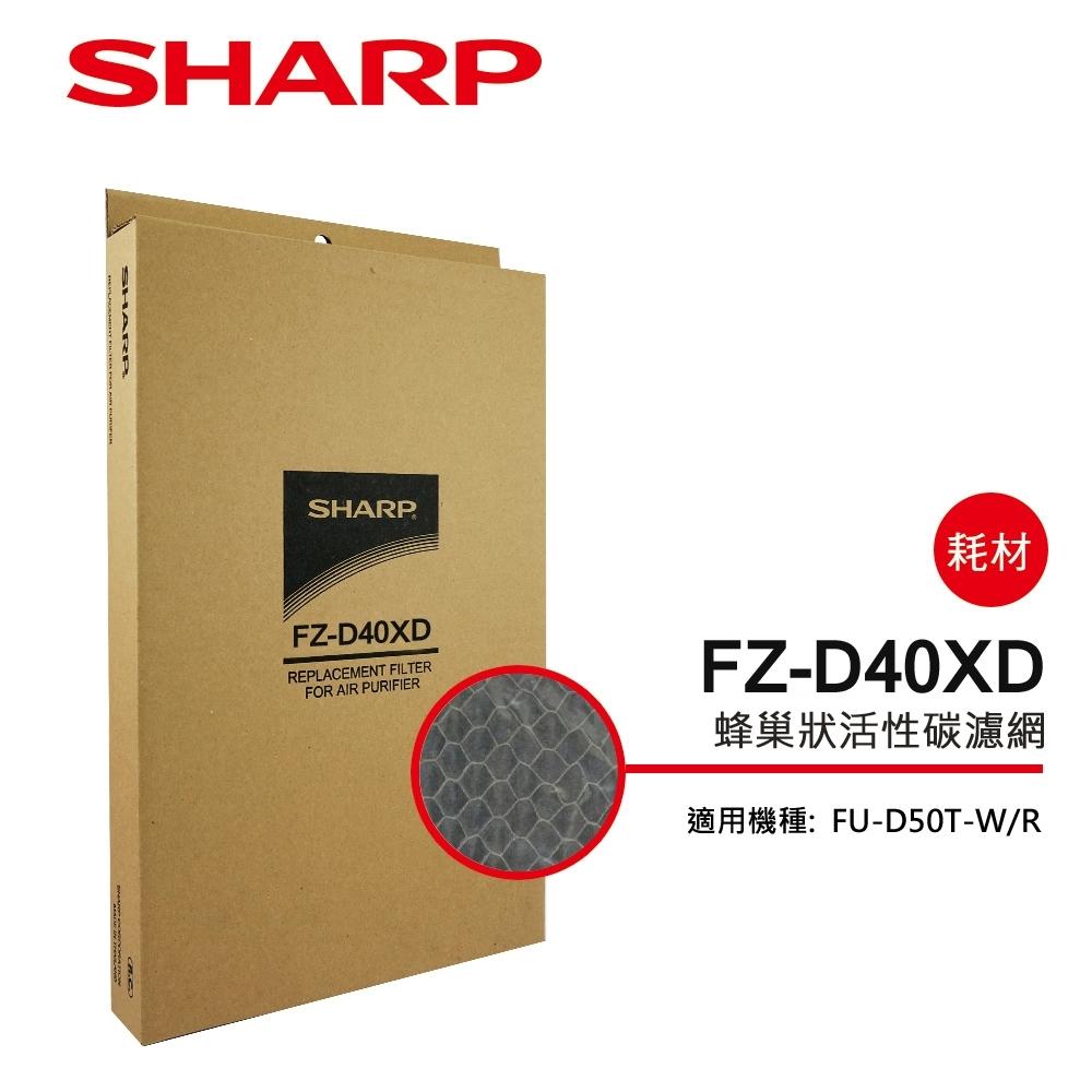 SHARP夏普 FU-D50T專用蜂巢狀活性碳濾網 FZ-D40XD