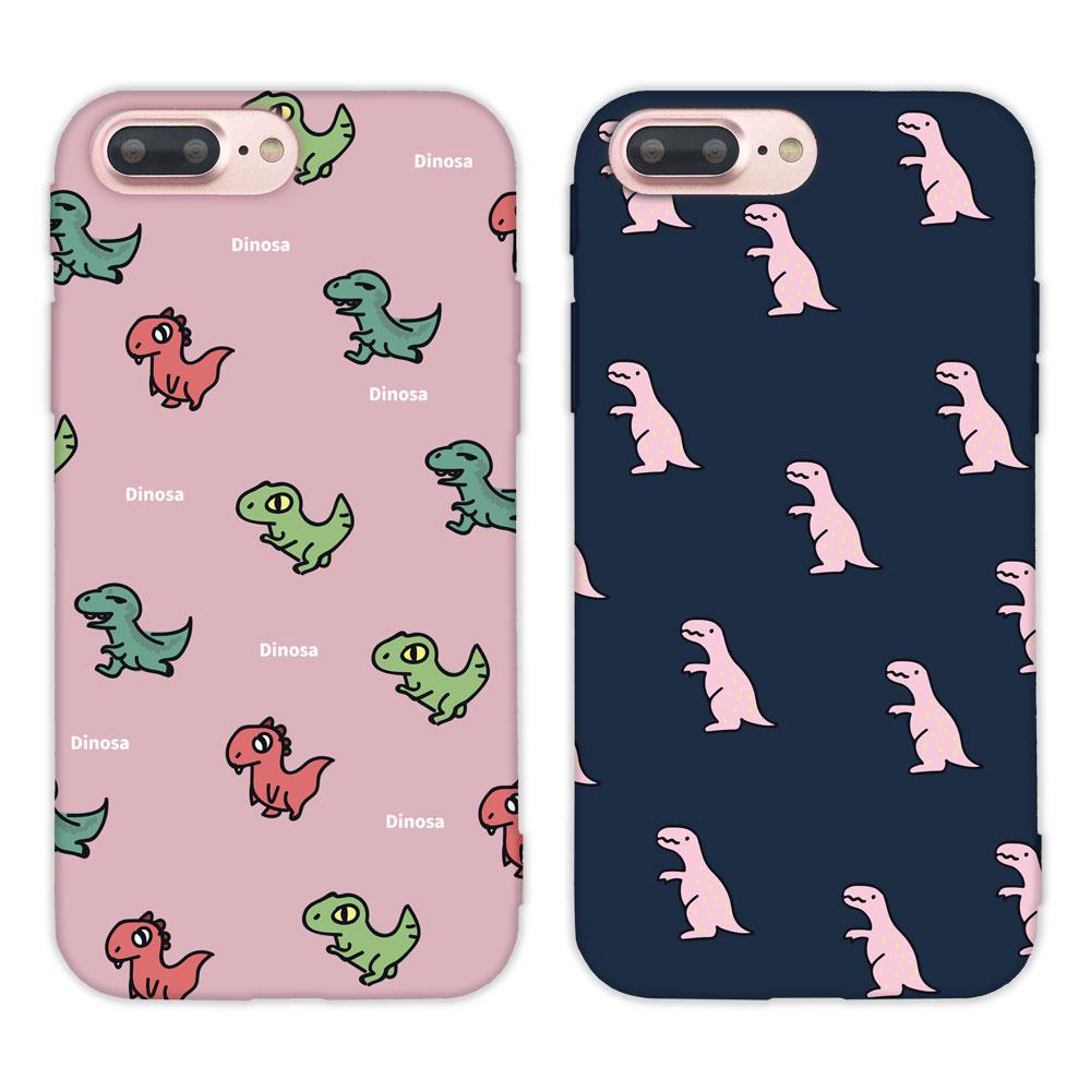 【TOYSELECT】iPhone 7/8 Plus 時尚經典恐龍亂花手機殼