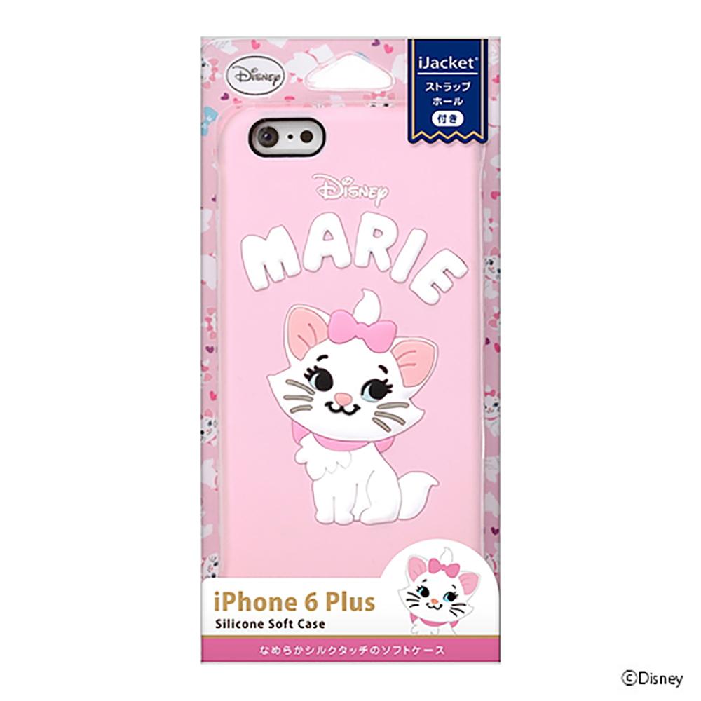 PGA iPhone 6S/6 Plus 5.5吋 迪士尼 瑪麗貓 可愛矽膠浮雕 手機軟殼