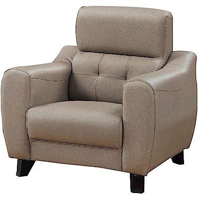 綠活居 費尼時尚灰貓抓皮革單人座沙發椅-90x82x92cm免組