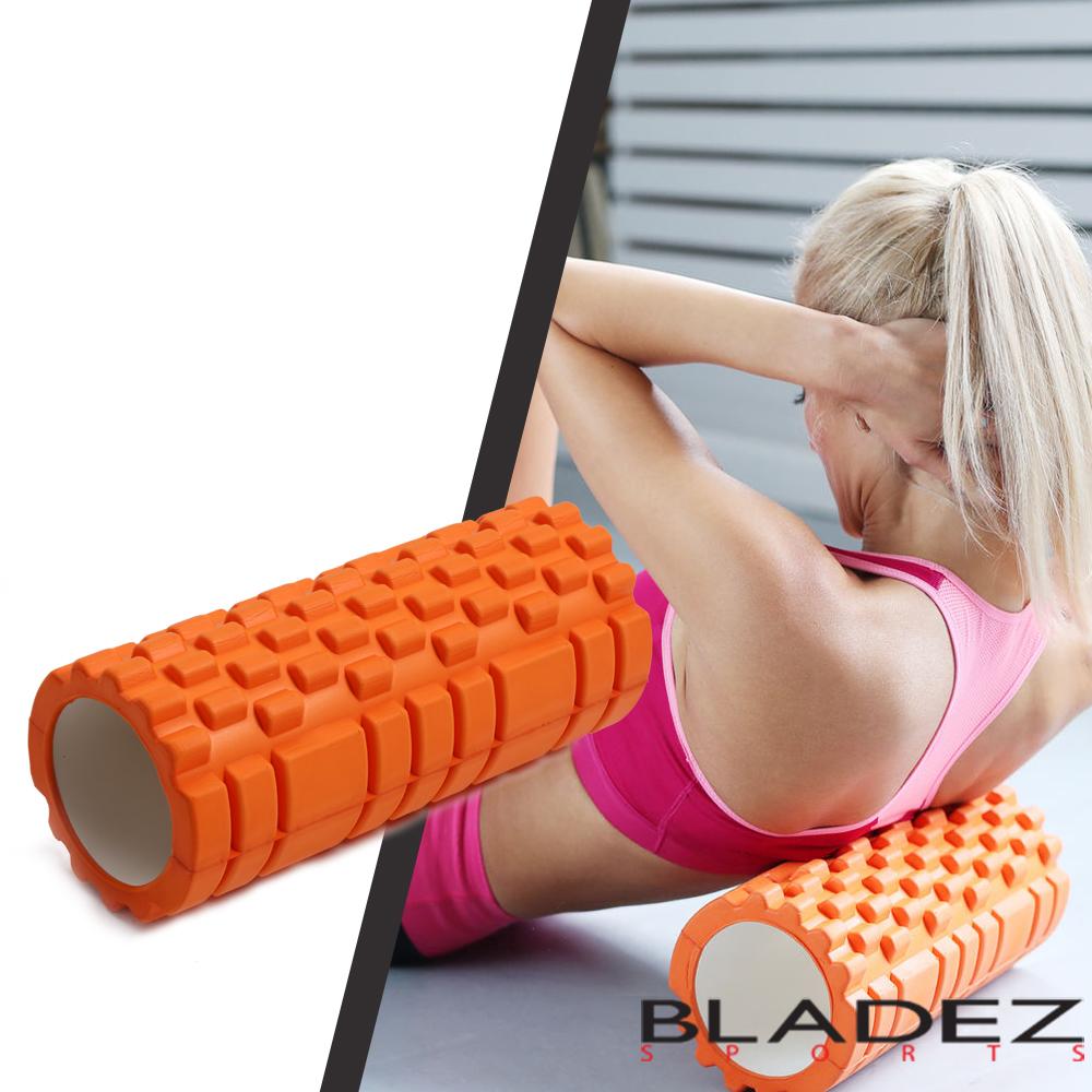【BLADEZ】狼牙棒空心瑜伽滾筒-橘色