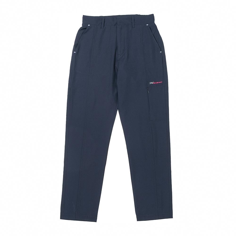 SASAKI 抗紫外線反光功能四面彈力戶外休閒長褲(直筒版)-男-青/黑-二色