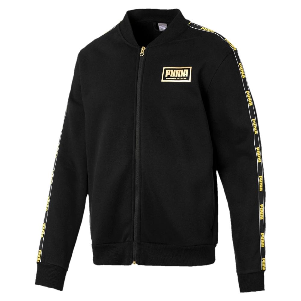 PUMA-男性基本系列Holiday立領外套-黑色-歐規