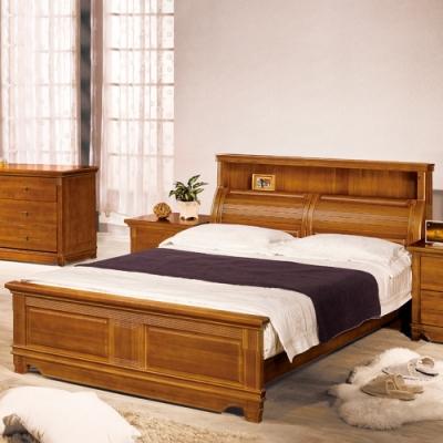 AS 艾達樟木全實木雙人5尺床頭+床台尾片-150x229.2x120cm
