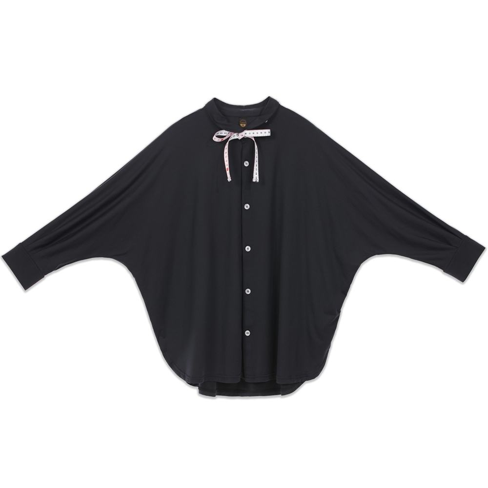 UDOU 裁縫師的聖經!飛鼠袖襯衫T恤(黑)