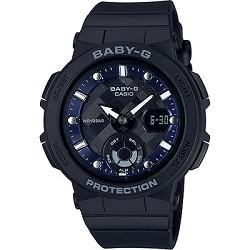 BABY-G 海水正藍指針數位雙顯女錶-黑X藍(BG