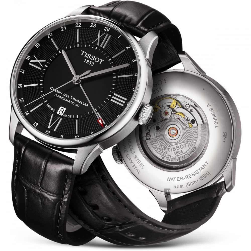 TISSOT 天梭 杜魯爾系列 80小時動力儲存 GMT 機械錶-42mm