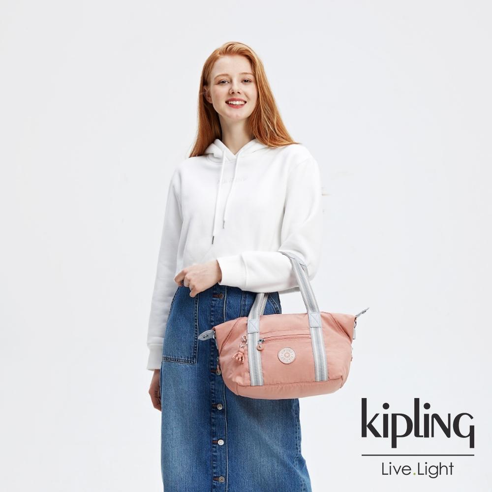 Kipling 奶油草莓拿鐵色手提側背包-ART MINI
