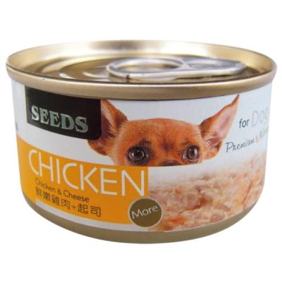 Seeds 聖萊西-CHICKEN愛狗天然食-鮮嫩雞肉+起司(70gX24罐)