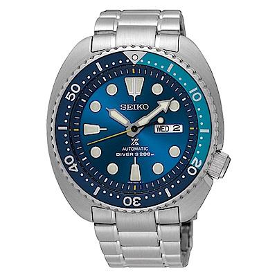 SEIKO精工 Prospex 冰藍龜殼限量潛水機械錶(SRPB11J1)-藍/45mm