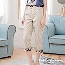 【Kinloch Anderson金安德森女裝】剪接壓線飾格布水洗七分褲-2色