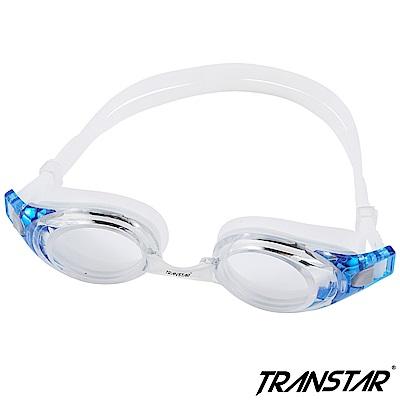 TRANSTAR 泳鏡 抗UV塑鋼鏡片-按鍵式扣帶-6950