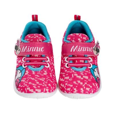 迪士尼童鞋  米妮  迷彩針織童段休閒鞋-桃