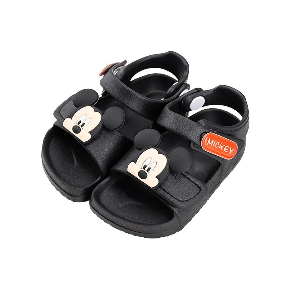 迪士尼童鞋 米奇 防水造型涼鞋- 黑