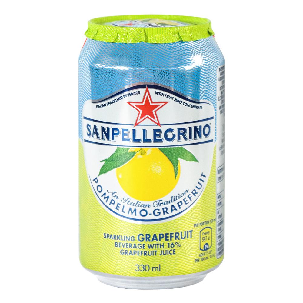 (活動) S.Pellegrino 聖沛黎洛 氣泡水果飲料 罐裝-葡萄柚口味(330mlx6入)