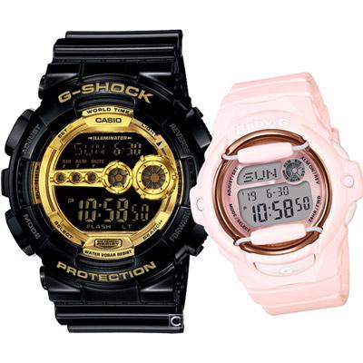 CASIO  青春酷炫運動對錶-51.2+42.6mm