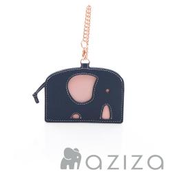 aziza 小象造型票卡夾 藍