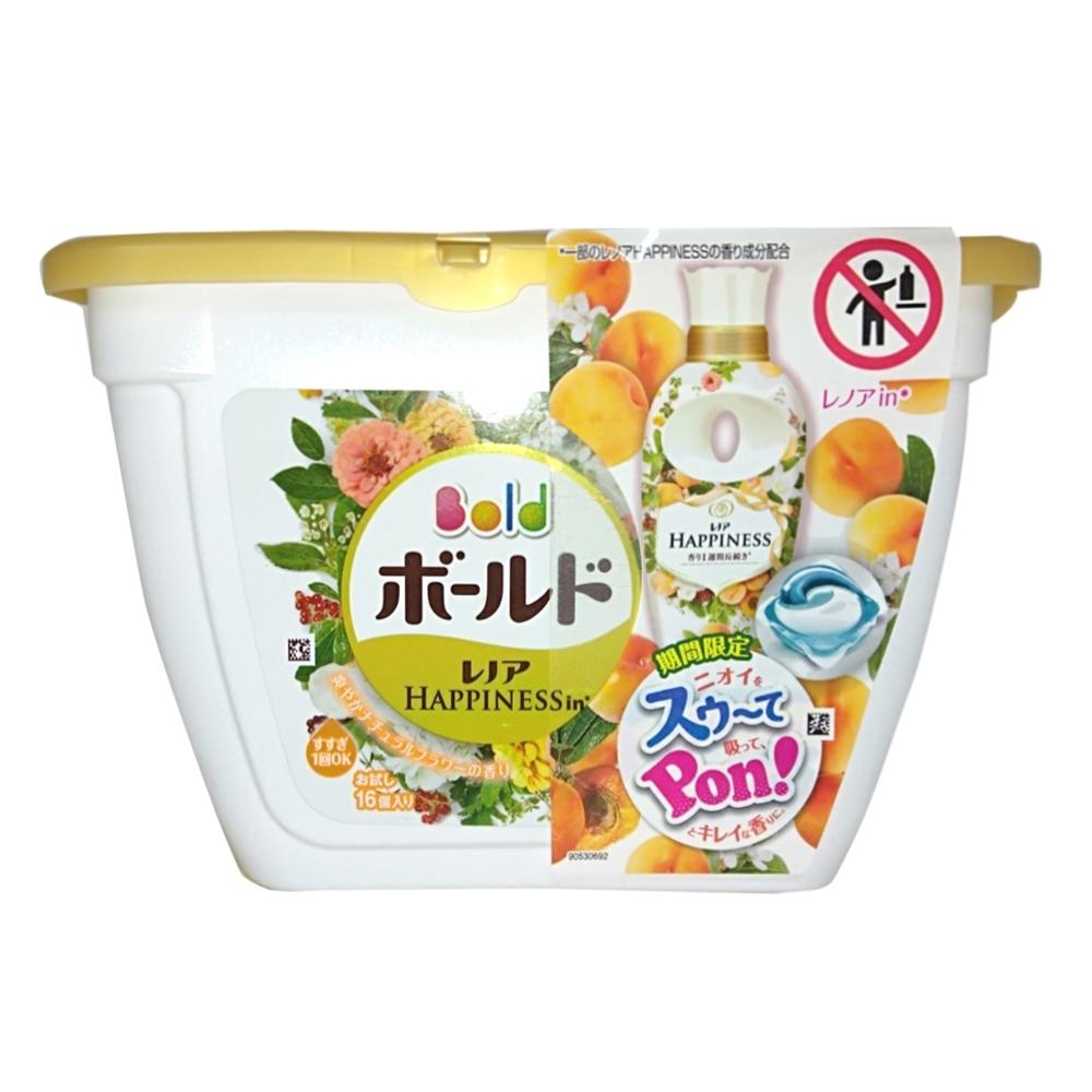 日本P&G 3D立體洗衣果凍膠囊-杏花清香(16顆入)