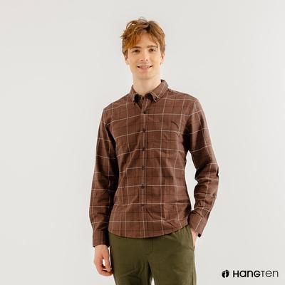 Hang-Ten-男裝-牛津紡簡約時尚襯衫-棕色