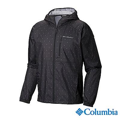 Columbia 哥倫比亞 男款- 防潑水風衣-深灰 UKE39740DY