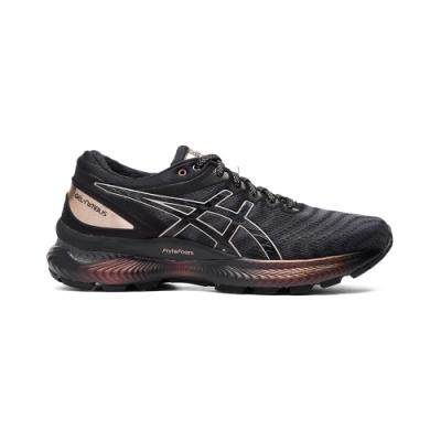 ASICS GEL-NIMBUS 22 PLATINUM 跑鞋 女(黑/金)