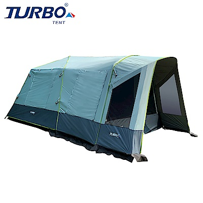 【Turbo Tent】Adventure 300 一房一廳八人帳篷(快速帳 全遮光 類 黑膠)