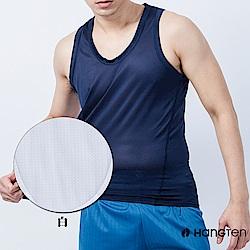 HANG TEN 水纖維菱格背心_白(HT-B11002)