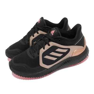 adidas 慢跑鞋 ClimaWarm Bounce 女鞋 海外限定 愛迪達 輕量 透氣 避震 黑 金 FW9638