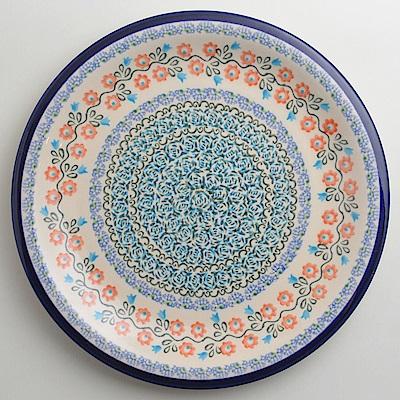 【波蘭陶 Zaklady】 紅花綠蔓系列 圓形餐盤 27cm 波蘭手工製