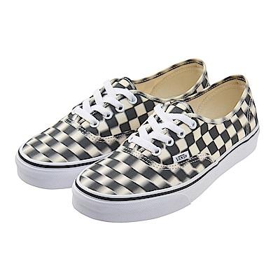 (男)VANS Authentic 眩暈棋盤格綁帶休閒鞋*黑白
