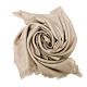 COACH 經典C LOGO羊毛混莫代爾絲巾圍巾(絲光卡其) product thumbnail 1