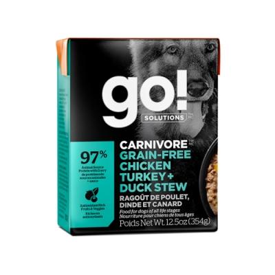 go! 品燉無穀鮮雞 354g 鮮食利樂狗餐包(肉絲 肉塊 肉泥 雞肉 狗罐)