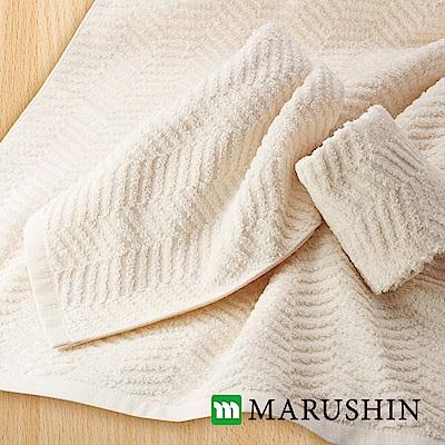 【日本丸真】日本製今治認證純棉天然無染毛巾
