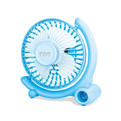 N Dr.AV 360°USB強風扇 藍色(FAN-180B)