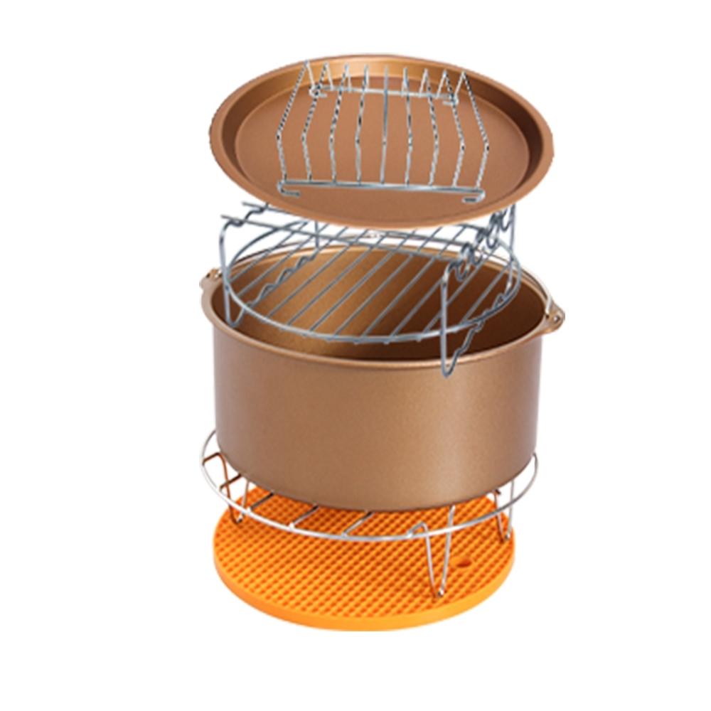 Effect 不鏽鋼-易清洗氣炸鍋配件(超值六件組)