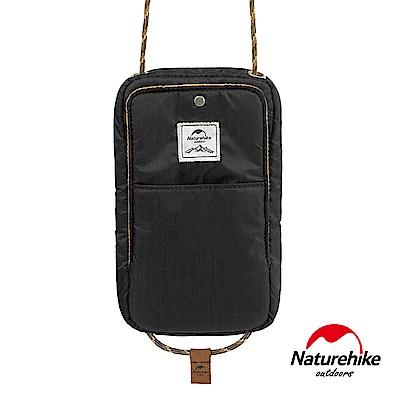 Naturehike 頸掛式防水旅行護照證件收納包 黑色-急