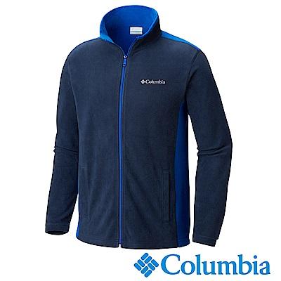 Columbia 哥倫比亞 男款-防曬50輕量刷毛外套-深藍UAE61970NY