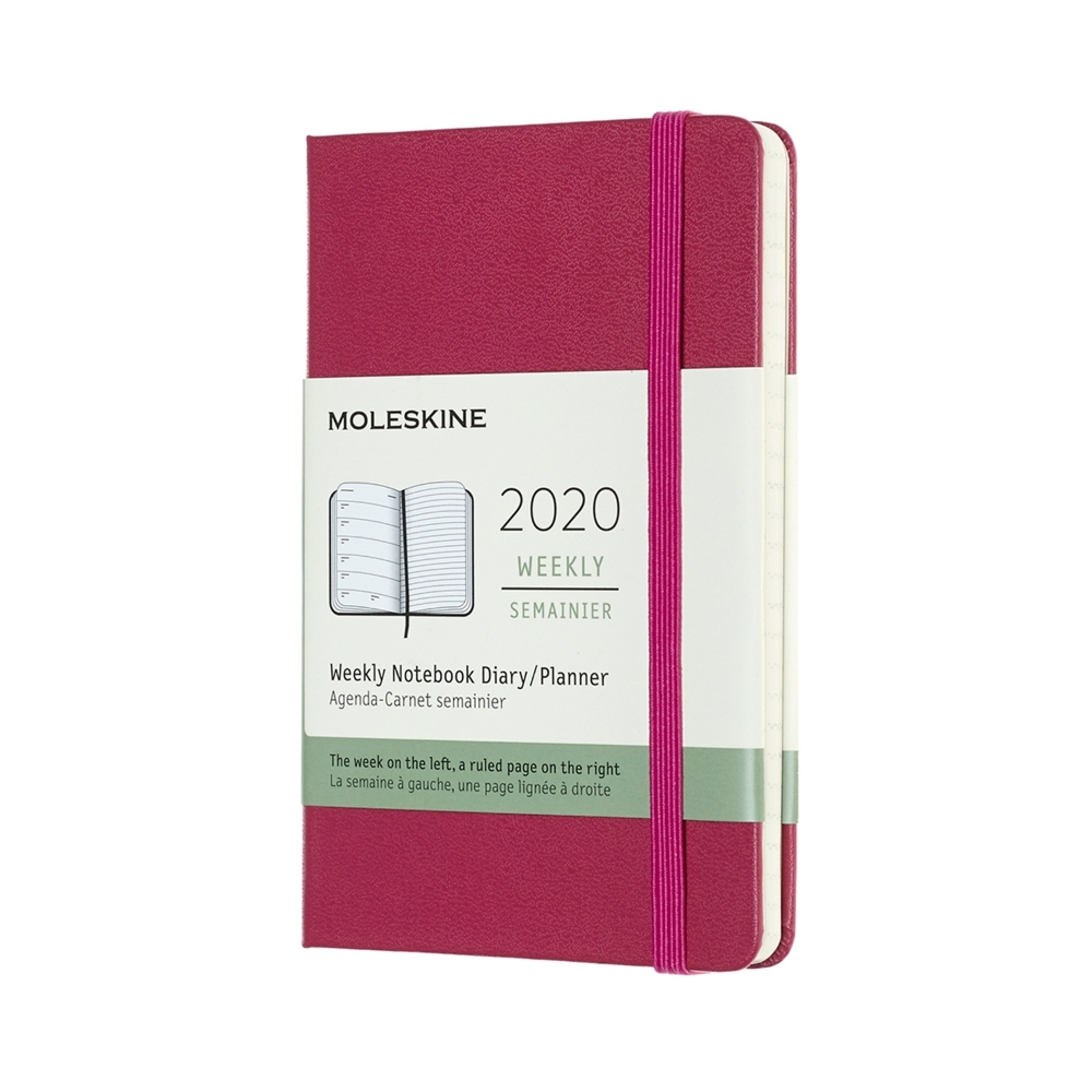 MOLESKINE 2020經典週記手帳12M(口袋型) -桃紅