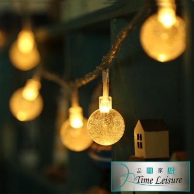 Time Leisure LED派對佈置/耶誕聖誕燈飾燈串(水晶燈/暖白/4M)