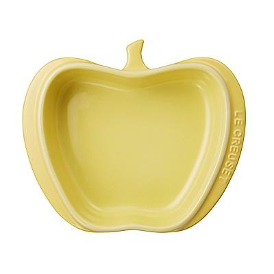 LE CREUSET瓷器迷你蘋果造型烤盤(含羞草黃)