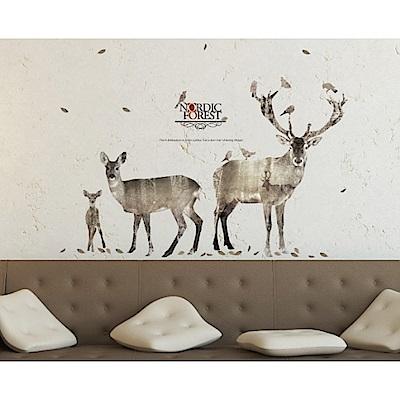 itaste小品味 北歐風格系列創意壁貼-鹿