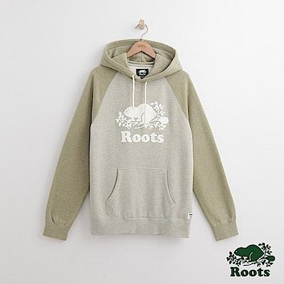 Roots-男裝-庫柏海狸連帽上衣- 綠