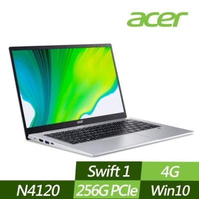 ACER 宏碁 SF114-33-C5Y6 14吋輕薄筆電 N4120四核心/4G/256G PCIe SSD/Win10